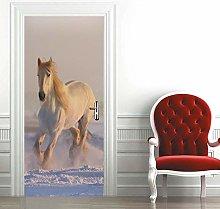 Msrahves Adesivo per Porte 3D Bellissimo cavallo