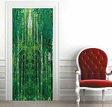 Msrahves Poster per Porte 3d Bella foresta Zen