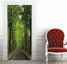 Msrahves Poster per Porte 3d Bellissimo albero