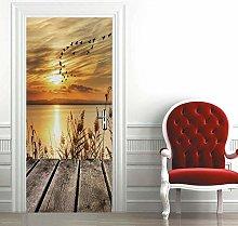 Msrahves Poster per Porte 3d Bellissimo tramonto