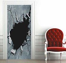 Msrahves Poster per Porte 3d Illusione astratta