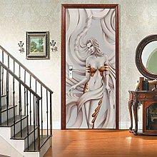 Msrahves Poster per Porte Donna creativa bianca