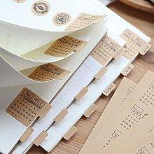 MUGBGGYUE 30 adesivi per calendario, linguette