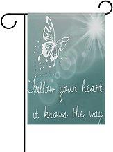 MUMIMI - Bandiera da Giardino a Forma di Farfalla,