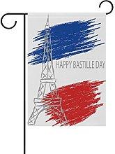 MUMIMI - Bandiera da Giardino con Scritta Happy