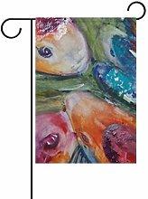 MUMIMI - Bandiera da Giardino Decorativa a Doppio