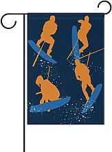 MUMIMI - Bandiera da Giardino Wakeboarding, 30,5 x