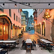 Murale 3D Europeo Street Landscape Pittura Murale