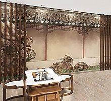 Murale 3D Personalizzato - Edificio Arcaico