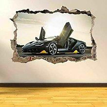 Murale Adesivi murali di auto sportivi neri