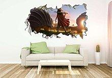 Murale Cartoon Dragon Personalizzato APPLICAZIONE