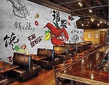 Murale da parete in stile vintage, con aragosta da