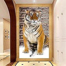 Murale personalizzato Non tessuto 3D Tigre
