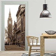 Murale Porte Poster Adesivo per porte 3D City