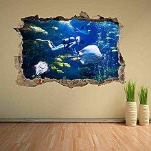 Murale Scuba Diving Subacqueo Pesci Adesivo murale