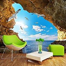 Murales 3D Cielo blu e nuvole bianche Paesaggio