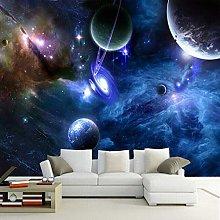 Murales 3D Galaxy Foto fluorescenti Sfondi Home
