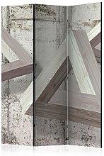 murando Paravento Astratto 3D & Lavagna di sughero