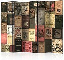 murando Paravento Libri Vintage 225x172 cm Stampa