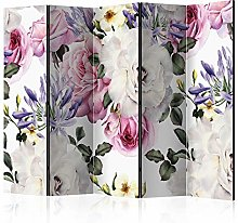 murando Paravento Natura Fiori Rose 225x172 cm