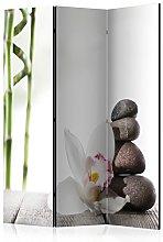 murando Paravento Spa Zen bambù Fiori 135x172 cm