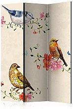 murando Paravento Vintage Ucello Fiori 135x172 cm