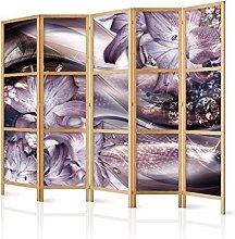 murando Paravento XXL Fiori Lilien 225x171 cm 5