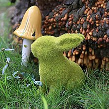 Muschio Coniglio Giardino Decoazioni Statua