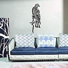 Mussola Cultura Arabo Uccelli Neri Adesivi Murali