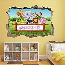 MXLYR Adesivo da parete 3d Adesivi murali animali