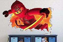 MXLYR Adesivo da parete 3d Fantasma rosso parete
