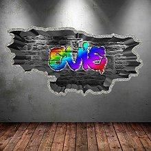 MXLYR Adesivo da parete 3d Graffiti personalizzati