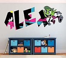MXLYR Adesivo da parete 3d Graffiti personalizzato