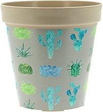 My Note Deco Cactus Cache-Pot, Plastica, Grigio