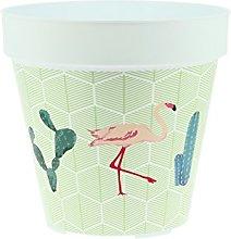 My Note Deco Fenicottero Rosa Cache-Pot, Plastica,