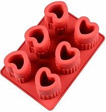 MYBHD 6 cavità 3D forma di cuore cubo di ghiaccio