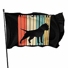MYGED American Bully Family Garden Decor Flag 3x5