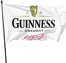 MYGED Guinness Beer Logo Flag Banner 3 x 5 Piedi