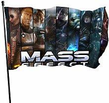 MYGED Mass Eff-ect Flag Bandiere da Esterno 100%