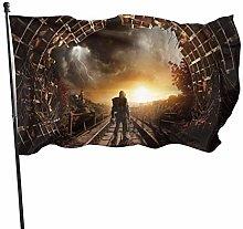 MYGED Metro Exodus Flag Bandiere da Esterno 100%