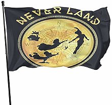 MYGED Peter Pan Neverland Northstar Characte Flag