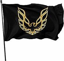 MYGED Pontiac Firebird Logo Flag 3x5 Ft, Durable