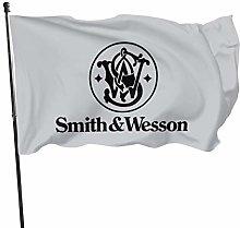 MYGED Smith And Wesson Logo Bandiera Leggera