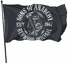 MYGED Sons of Anarchy Grim Reaper Flag 3x5 Piedi