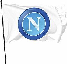 MYGED Stemma Napoli Calcio 20Flag 3x5 Ft, Durable