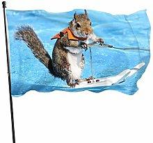 MYGED Surf Squirrel Flag Cute Garden Flag Yard