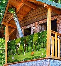 MyMaxxi Frangivista Premium per balconi, foresta,