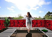 MyMaxxi Protezione per balcone Premium | Rose 7 x