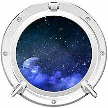 Mysticky 3d oblò rotondo pianeta e sistema