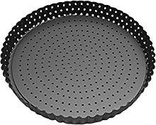 Mzshne - Teglia per pizza rotonda perforata,
